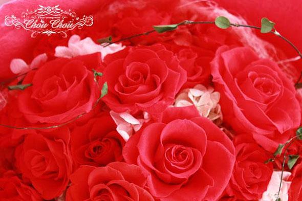 プロポーズ 花束 ディズニーランド ディズニープロポーズ 赤バラ オーダーフラワー  舞浜 花屋 浦安 シュシュ