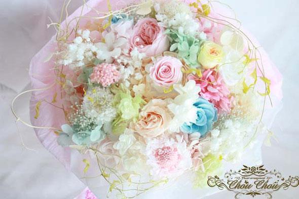 プリザーブドフラワー 花束 プロポーズ  リング リングホルダー リングケース オーダーメイド フラワー 花屋 シュシュ ケース