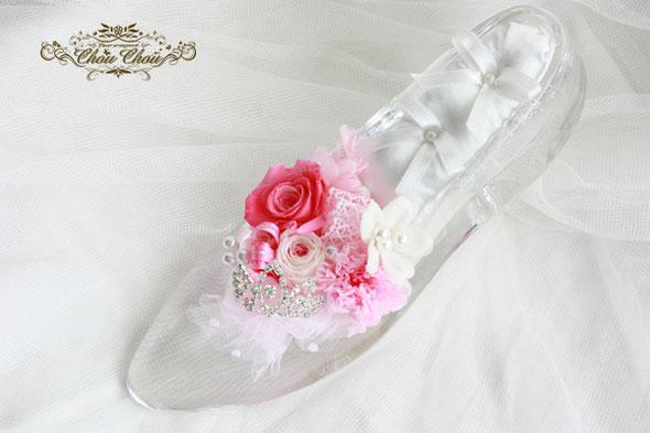 ガラスの靴 リングピロー ティアラ ディズニー