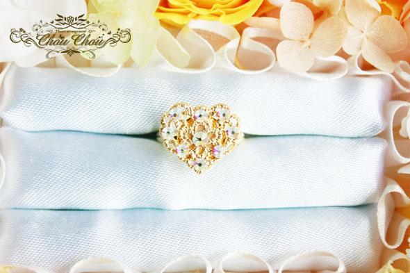 プロポーズ リング ジュエリーボックス リングケース リングホルダー 薔薇 プレゼント