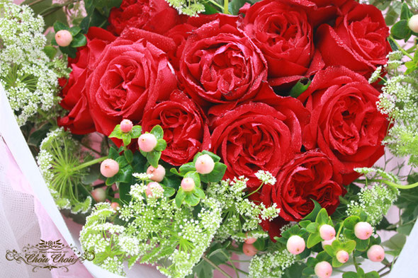 ディズニー プロポーズ ダズンローズ ハートの花束 赤バラ ミラコスタ 花屋 舞浜