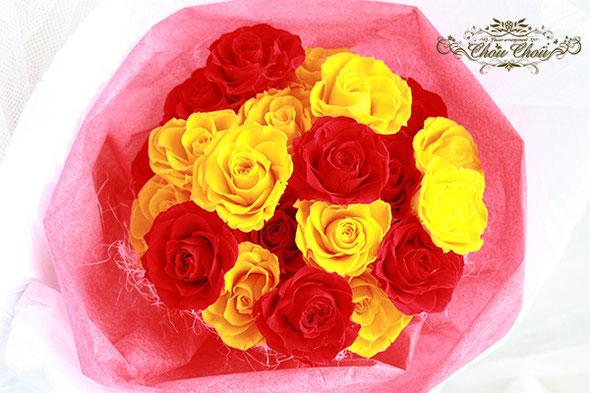 ディズニー プロポーズ ミラコスタ 薔薇 プリザーブドフラワー 花束 配達 無料 オーダーフラワー  シュシュ chouchou  舞浜花屋