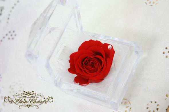 プロポーズ プレゼント リングケース バラ 一輪