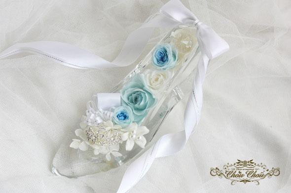 ガラスの靴 ディズニー プロポーズ  花