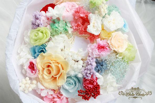 プロポーズ 花束 プリザーブドフラワー 薔薇 ディズニー リング ホルダー