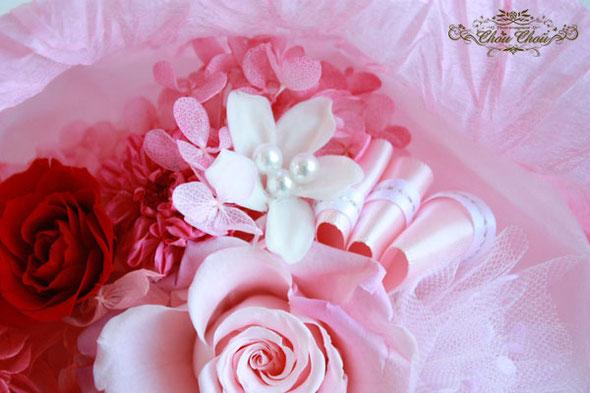 花束 プリザーブドフラワー ディズニー アンバサダー 隠れミッキー