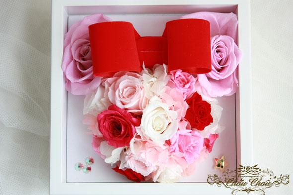 ディズニープロポーズ オーダーフラワー リングケース ジュエリーボックス 薔薇 プリザーブドフラワー