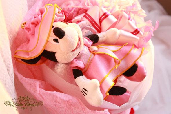 ディズニー プロポーズ シンデレラ城 花束 ミニーちゃん プリザーブドフラワー