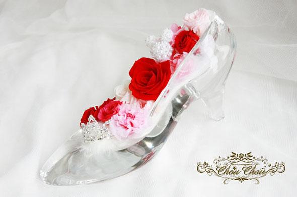 ガラスの靴 ディズニー プロポーズ シンデレラ ティアラ プリンセス ミッキー フラワー