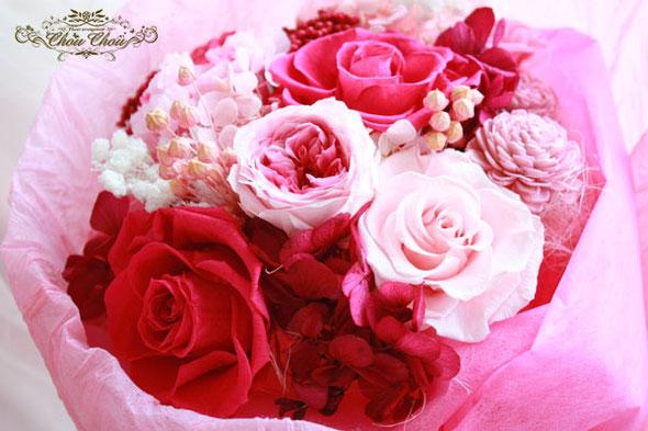 プロポーズ 花束 ディズニー プリザーブドフラワー 薔薇 ミラコスタ