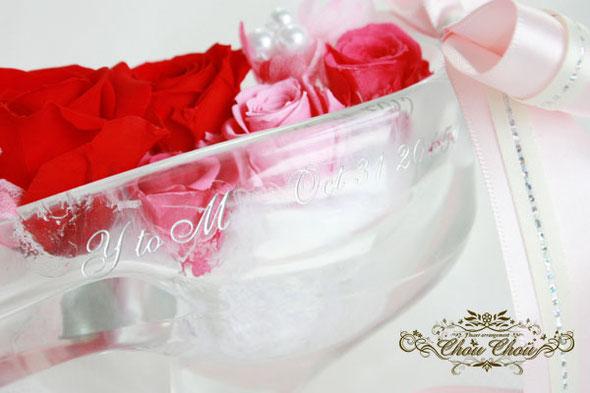 ガラスの靴 ディズニー プロポーズ シンデレラ城 フラワー 花 プリザーブドフラワー