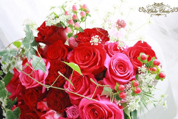 プロポーズ 花束 薔薇 ディズニー ミラコスタ 生花 オーダー 配達 花屋