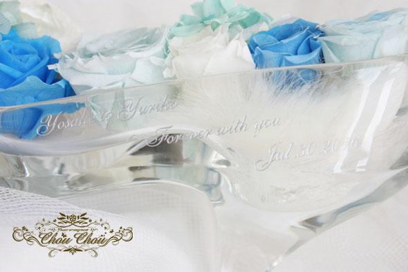 ガラスの靴 シンデレラ ディズニー プロポーズ 刻印 販売 プリザーブドフラワー