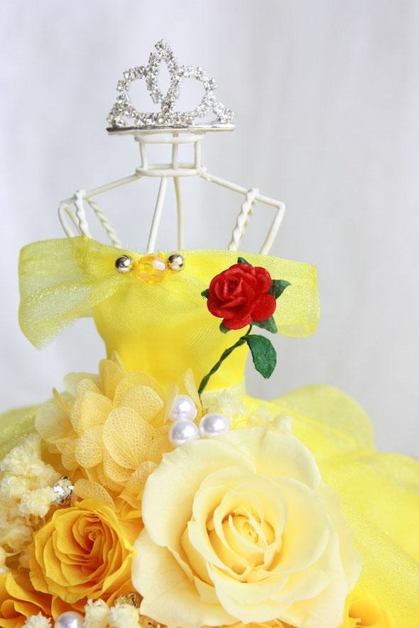 美女と野獣 ベル ドレス オーダーフラワー 薔薇 トルソー プロポーズ シンデレラ ラプンツェル