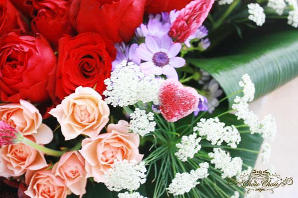 プロポーズ 花束 ディズニー ミラコスタ 薔薇 隠れミッキー ハート オーダーフラワー 販売