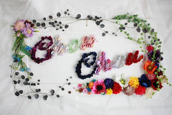 フラワー看板 花文字 造花 アーティフィシャル  オーダー