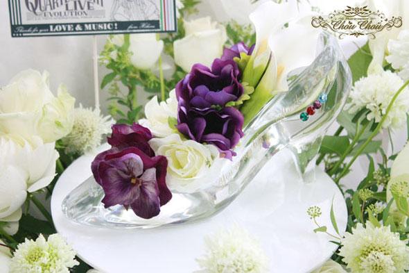 楽屋花 スタンド花 東京国際フォーラム イベント ステージ ガラスの靴 生花 造花
