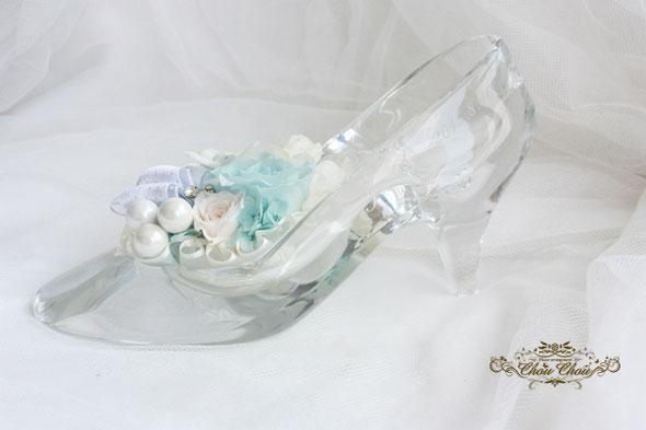 プロポーズ ディズニー ガラスの靴 シンデレラ アンバサダー プリザーブドフラワー