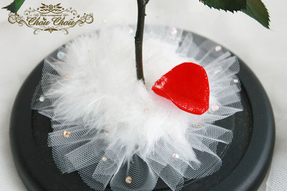 美女と野獣 ウェディング 薔薇 ガラスドーム サプライズ プレゼント 刻印