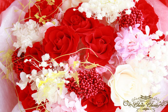 ディズニープロポーズ エミオン 花屋 花束 ダズンローズ 薔薇 プリザーブドフラワー 浦安 舞浜