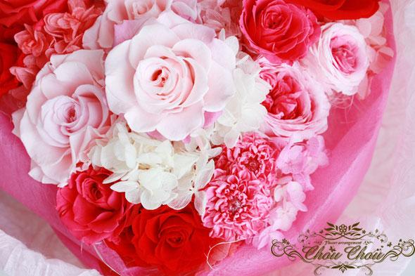 ディズニー プロポーズ ウェディング 花束 ブーケ ミッキーシェイプ プリザーブドフラワー 注文 薔薇
