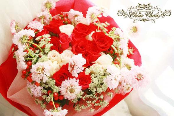 プロポーズ 花束 薔薇 ディズニー ミラコスタ ホテル 配達 舞浜 浦安 花屋 シュシュ