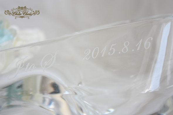 プロポーズ ディズニー ガラスの靴 シンデレラ アンバサダー 刻印