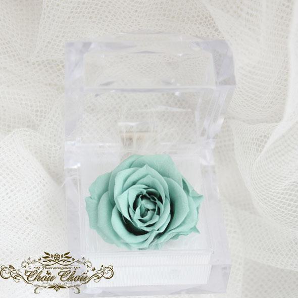レターポット お花 贈る キャンペーン プリザーブドフラワー 薔薇 ターコイズブルー