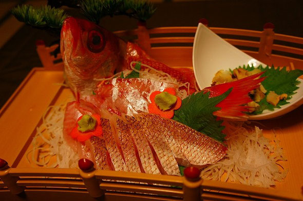 ノドグロ お刺身 (旬季 晩秋から春)