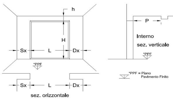 Modulo misure porte basculanti sidergasparri for Misure porte