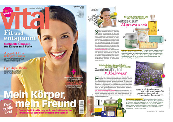 VITAL / SEP. 2013 | Massage&BathOil MOUNTAIN HERBS COLLECTION