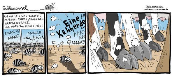 Beispiel-Comicstrip vom Comiczeichner Hannes Mercker
