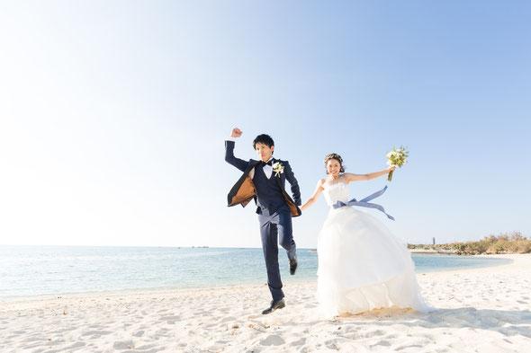 沖縄の浜辺でのお写真