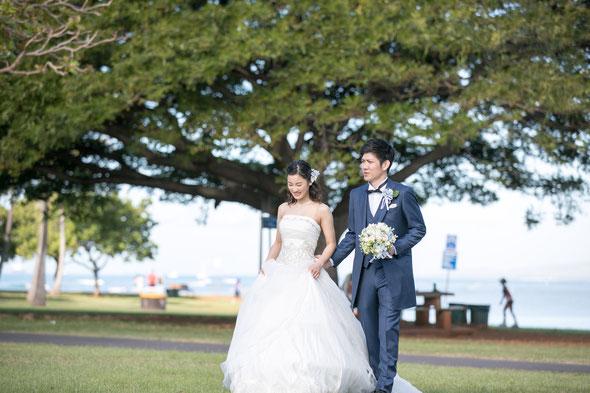 ハワイでの結婚式の様子