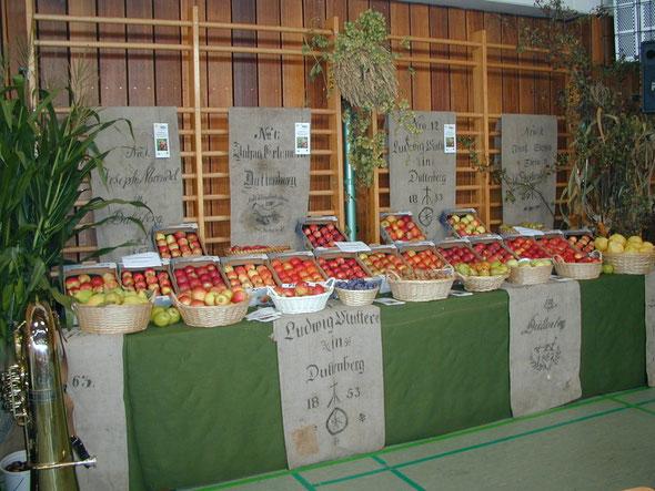 Apfelausstellung in der Deutschordenhalle