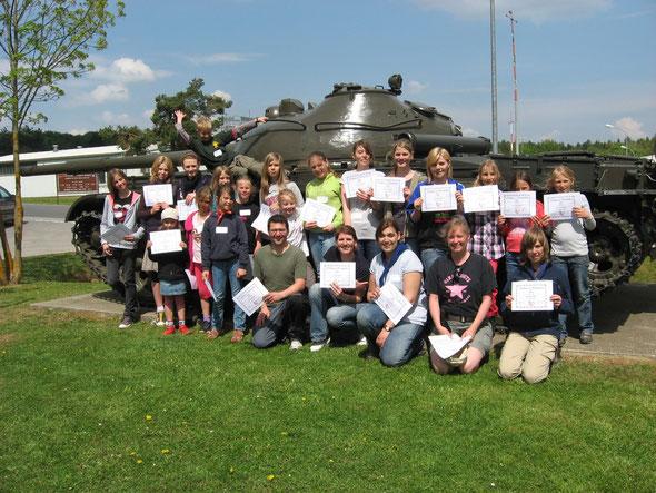 Bei den Girl Scouts in Hohenfels