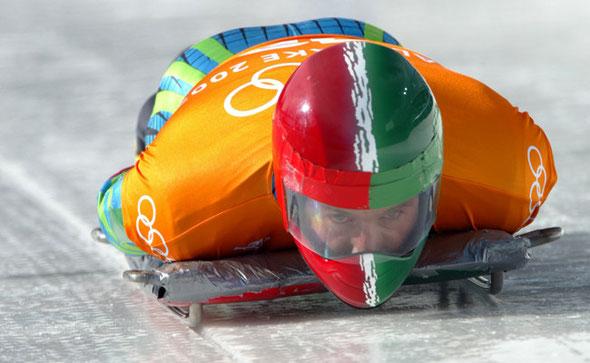 """Luis Carrasco """"El Cuaz"""" en juegos olímpicos de invierno en Salt Lake, descenso skeleton"""