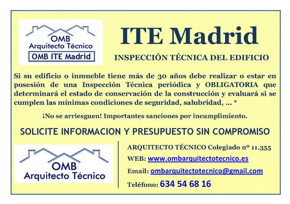 Inspección técnica de Edificios Madrid - OMB ITE Madrid - OMB Arquitecto Técnico