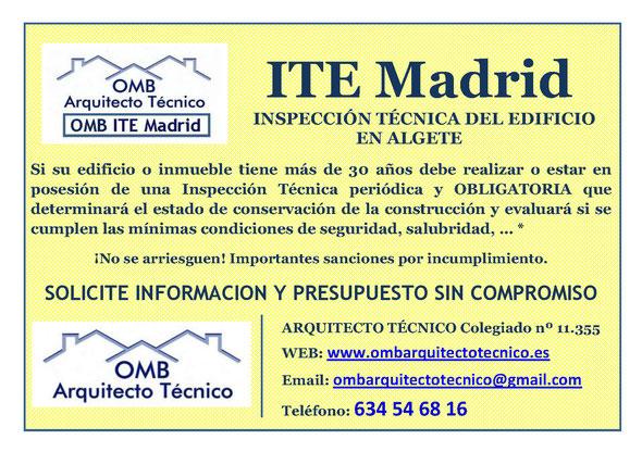 Inspección técnica de Edificos Algete - ITE Algete - OMB ITE Madrid - OMB Arquitecto Técnico