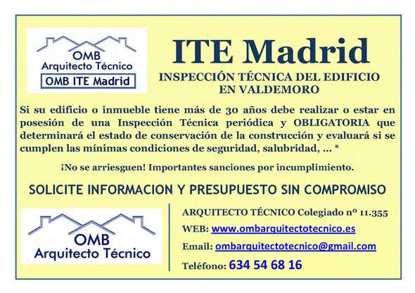 Inspección técnica de Edificos Valdemoro - ITE Valdemoro - OMB ITE Madrid - OMB Arquitecto Técnico