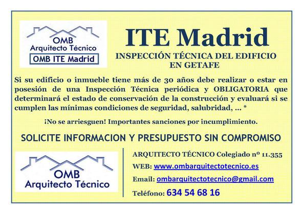 Inspección técnica de Edificos Getafe - ITE Getafe - OMB ITE Madrid - OMB Arquitecto Técnico