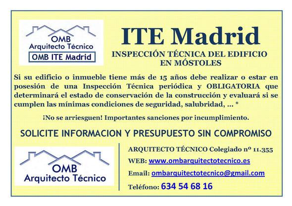 Inspección técnica de Edificos Móstoles - ITE Móstoles - OMB ITE Madrid - OMB Arquitecto Técnico