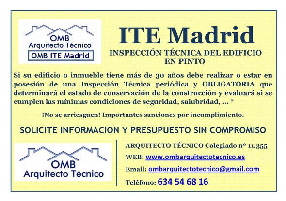 Inspección técnica de Edificos Pinto - ITE Pinto - OMB ITE Madrid - OMB Arquitecto Técnico