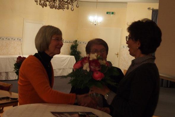 v. l. n. r. Roswitha Wieczorek, Hanne Kraus, Marianne Späth