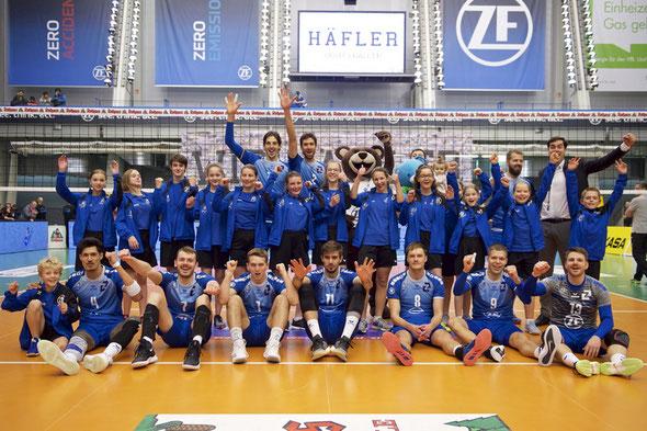 Ballkinder beim VfB Friedrichshafen in der ZF Arena