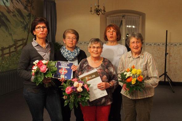 v. l. n. r. Marianne Späth, Hanne Kraus, Inge Käser, Uschi Riegger, Christa Dohrmann