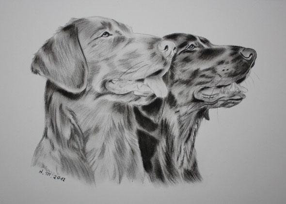 Kiri und Tane gemalt von Heike Müller