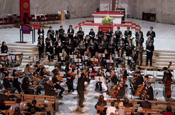 東京カテドラルマリア大聖堂 チャリティコンサート                        モーツァルトレクイエム バッハカンタータ他                                     コーラスアンサンブルIRIS・たりずすこらーず合唱出演