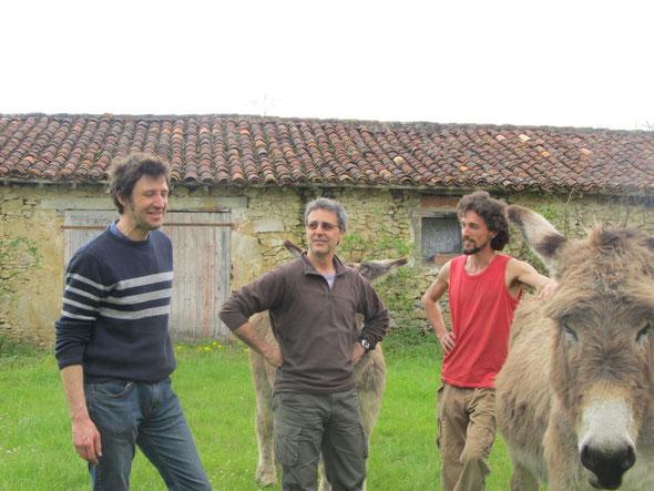 De gauche à droite : Pierre, Patrick, Nicolas, Pompon