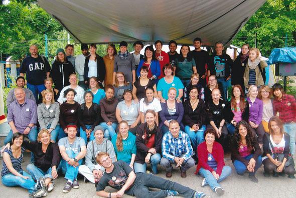 Helferinnen und Helfer im Jahr 2012
